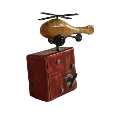 JAMES MINIDIS - RED HELICOPTER MUSIC BOX - MIXED MEDIA