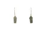 J.C. MILNER - SILVER HOUSE EARRINGS W/ ETCHED TREES - SILVER