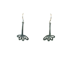 J.C. MILNER - LONG FLOWER EARRINGS - SILVER