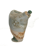 LISA MERTINS - MERMAID/FISH BOTTLE W/ STOPPER - CERAMIC - 3 X 4 X 2