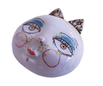 LISA MERTINS - MASK W/ PINK NOSE & LIPS - CERAMIC - 3.5 X 3.75 X 1.5