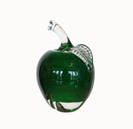 ROBERT HELD - DARK GREEN APPLE - GLASS - 3 X 4.5 X 3