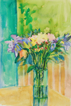 PETE ROBERTS - VIBRANT BOUQUET - WATERCOLOR - 14 X 21