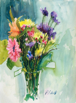 PETE ROBERTS - MAY FLOWERS - WATERCOLOR - 11 X 14.5