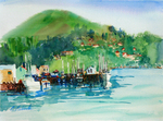 PETE ROBERTS - HARBOR VIEW - WATERCOLOR - 14 X 10.25