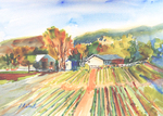PETE ROBERTS - RURAL COLORS - WATERCOLOR - 15 X 11