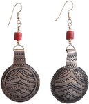 JANET SEWARD - ANTQ MOROCCAN NIELLO PENDANT EARRINGS - SILVER