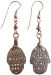 JANET SEWARD - ANTIQUE HAMSA EARRINGS - STERLING