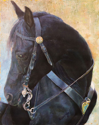 NAOMI SHACHAR - US HORSE - OIL - 8 x 10