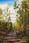 JOHN SAWYER - SHADOWS ON THE TRAIL - OIL ON CANVAS - 24 X 36