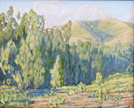JOHN SAWYER - EMERALD SHADOWS - OIL ON CANVAS - 19.75 X 16