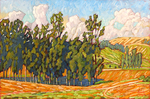 JOHN SAWYER - ORCHARD HILLS AFTERNOON - OIL ON CANVAS - 23.75 X 15.75