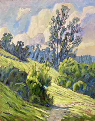 JOHN SAWYER - MORNING IN COWAN HEIGHTS - OIL ON CANVAS - 15.5 X 19.5