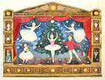 KRISTINA SWARNER - NUTCRACKER - MIXED MEDIA ON PAPER - 23.5 X 18