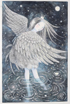 KRISTINA SWARNER - SWAN LAKE - MIXED MEDIA - 11.5 X 18