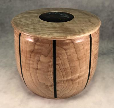 TOM BORUSKY - MAPLE KEEPSAKE BOX - WOOD - 5 X 5 X 5