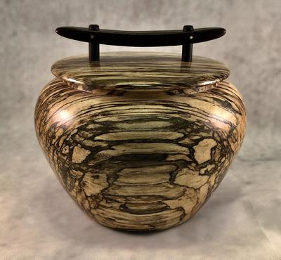 TOM BORUSKY - LIDDED URN - WOOD - 5 X 5 X 5