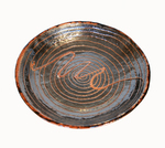 KARL TANI - BROWN & BLACK SWIRL CERAMIC BOWL - CERAMIC - 12 X 1.75 X 12