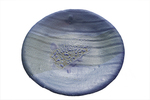 KARL TANI - SMALL ROUND BLUE PLATE - CERAMIC - 8.75 X 8.75 X 1