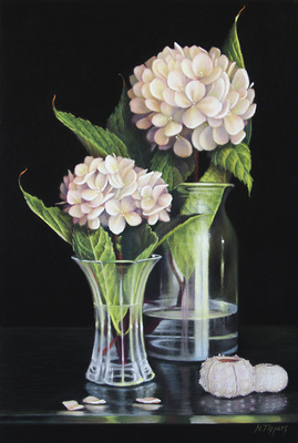 MARIE TIPPETS - 2 STEMS PLEASE - PASTEL - 16 X 22