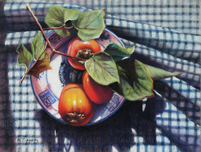 MARIE TIPPETS - THE BLUE BOWL - PASTEL - 16 X 13