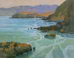 KIM VANDERHOEK - BEAUTIFUL BODEGA BAY - OIL ON CANVAS - 14 X 11