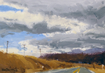 KIM VANDERHOEK - TRAVELING CLOUDS - OIL ON PAPER - 10.5 X 7.5