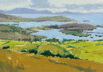 KIM VANDERHOEK - FROM LAND TO SEA - OIL ON PAPER - 10.25 X 7
