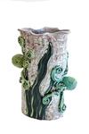 "LILIA VENIER - ""HIDE AND SEEK"" VASE, TWO OCTOPUSES - CERAMIC - 6.5 X 11 X 4.5"