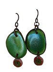 MERRY WENNERBERG - GREEN EARRINGS - RESIN