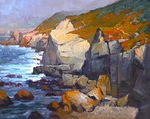 JIM WODARK - GARRAPATA CLIFFS - OIL ON CANVAS - 30 X 24