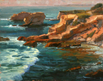 JIM WODARK - TREASURE COVE - OIL ON BOARD - 20 x 16
