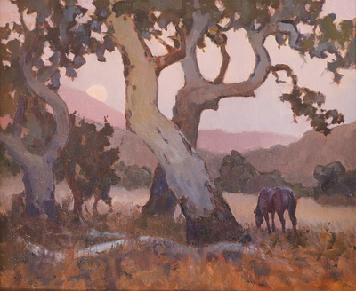 JIM WODARK - SYCAMORE TWILIGHT - OIL - 24 X 20