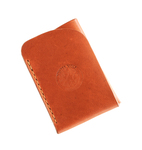 WINTER WOLF LEATHER - BOJD CARD WALLET, BROWN - LEATHER