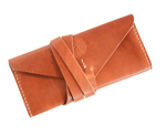 WINTER WOLF LEATHER - SLAIN WRAP CLUTCH, BROWN - LEATHER