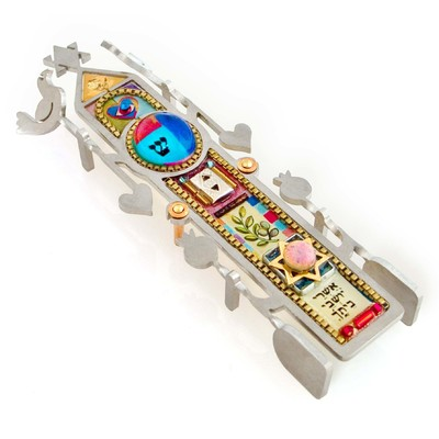 SEEKA - COLUMN OF BLESSING MEZUZAH - METAL