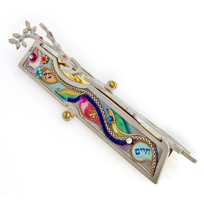 SEEKA - TREE OF LIFE MEZUZAH - METAL