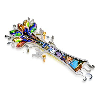 SEEKA - TREE OF LIFE WITH BIRDS MEZUZAH - METAL