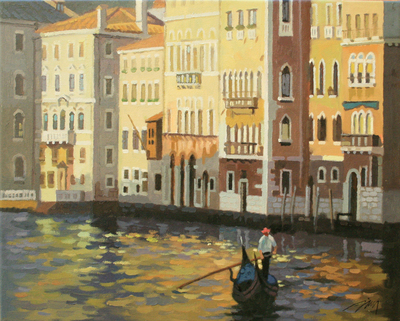 JIE ZHOU - VENICE - OIL ON CANVAS - 20 x 16