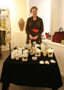 Lisa Mertins displays her charming ceramics