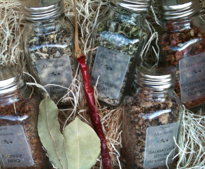 Spice Merchants olive oils, sea salt, balsamic vinegar, spices
