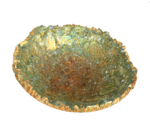 Mira Woodworth fused glass bowl