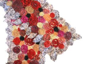 Mary Hammond textile scarf fiber art