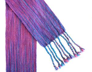 Susan Horton woven scarf, weaving