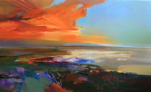John Maxon contemporary landscape, oil painting