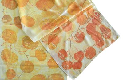 ayn hanna eco dyed silk scarf
