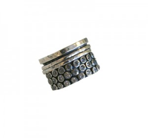 Ithil Metalworks silver spinner ring