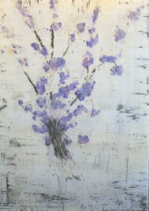 Bernard Weston contemporary floral painting