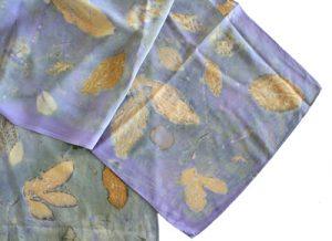 Ayn Hanna eco dye silk scarf