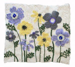 Mary Hammond sewn textile wall hanging